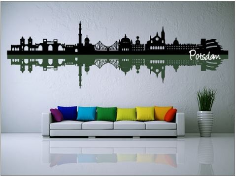 Good Wandtattoo Skyline Potsdam mehrfarbig