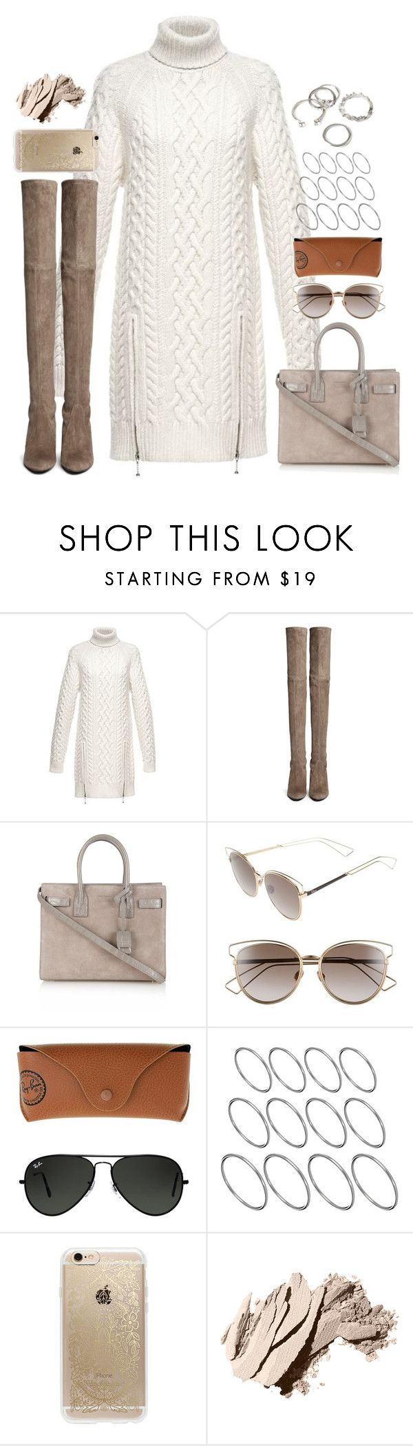 """Untitled#4362"" by fashionnfacts ❤ liked on Polyvore featuring Alexander Wang, Stuart Weitzman, Yves Saint Laurent, Christian Dior, Ray-Ban, ASOS, Rifle Paper Co, Bobbi Brown Cosmetics and Forever 21"