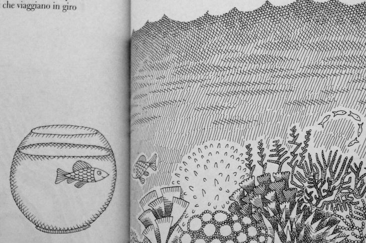 Libri per la vita. Due pagine del libro Rime chiaroscure di Chiara Carminati e Bruno Tognolini, con le illustrazioni di Pia Valentinis