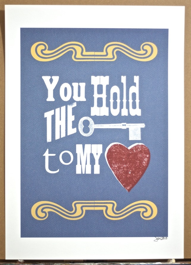 You Hold the Key to My Heart £12.00