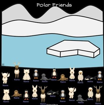 Polar Animal themed #SMARTboard attendance is a quick and fun way for kids to check in in the morning!