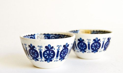 Arabia Finland, Flow blue candle holders
