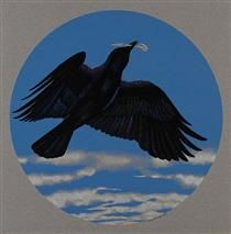 Crow with Silver Spoon - Alex Colville