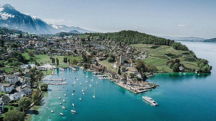 Spiez, seen by @marco_herzig ・・・ #Repost  Just #Spiez. From a Sun(ny)day with my Family. #myswitzerland #super_switzerland #visitswitzerland #switzerlandpictures #inLOVEwithSWITZERLAND #ig_swiss #Switzerland_Vacations #Destinations_Switzerland #thebeautifulswitzerland #dji #mavicpro . . . #thunersee🇨🇭 #thunersee #lakethun #seasidefestival #spiezberg #dieschönstebuchteuropas #lakeofthun #boats #lagothun #schlossspiez #madeinbern #mybeoland #berneroberland