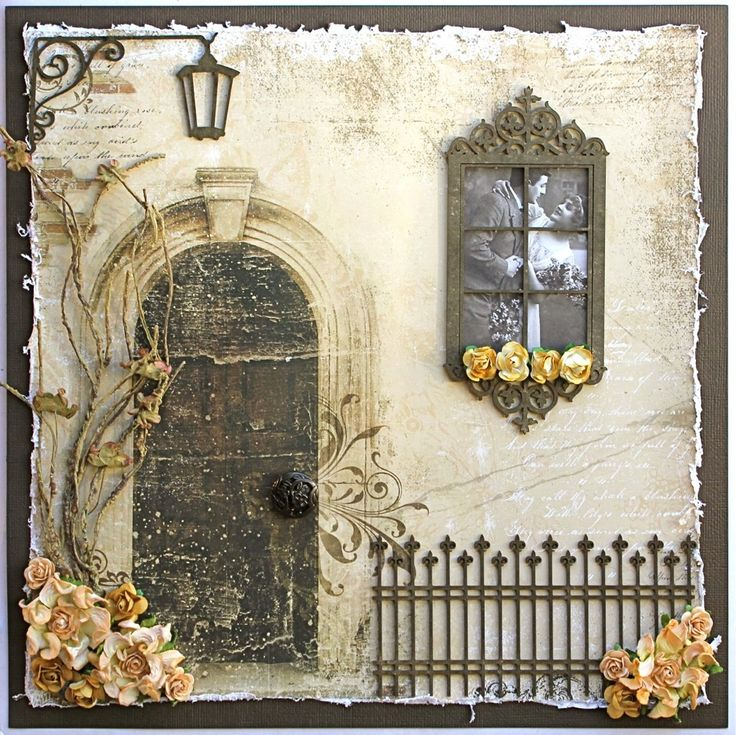 Gorgeous dimensional effect!   I have this sheet but just one .  It would be so much fun to experiment with... woulscene+display+*Dusty+Attic+Giveaway* - Scrapbook.com