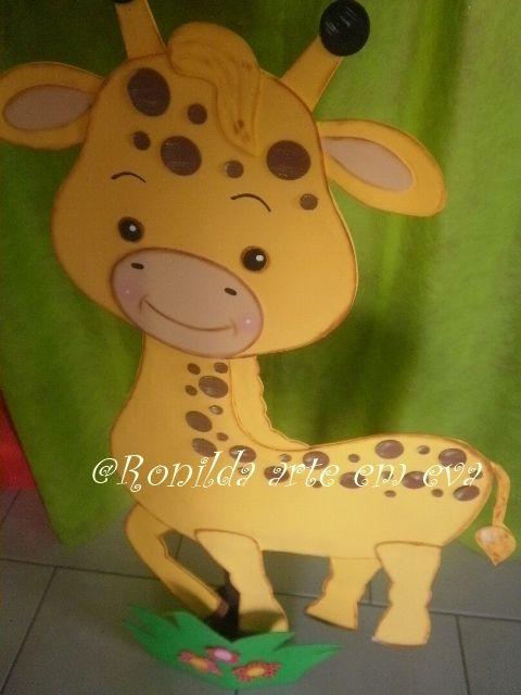 enfeite de chão girafa 1 metro