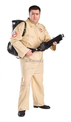 Rubies Plus Size Ghostbusters Jumpsuit and Inflatable Backpack - X-Large by Rubies @ niftywarehouse.com #NiftyWarehouse #Ghostbusters #Movie #Ghosts #Movies #Film