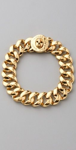 Marc by Marc Jacobs Small Turnlock Katie Bracelet...I really need this.  It would match my ring! :)