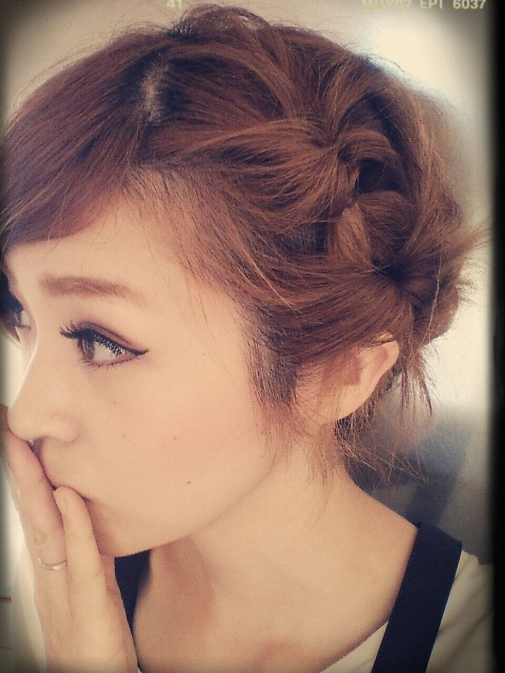 高校生髪型女子前髪アレンジ方法