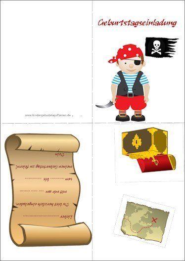 Piraten Geburtstag Einladung 1 Geburtstags Einladungen
