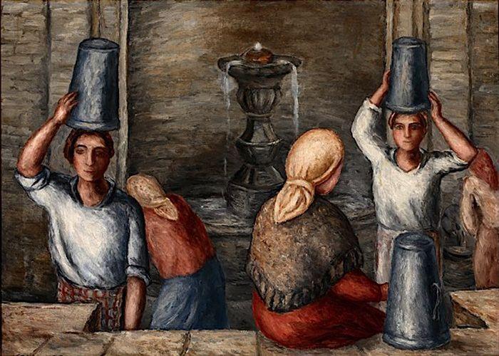 Na fonte. Manuel Colmeiro