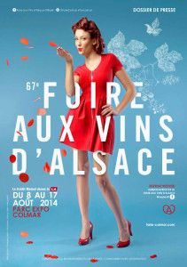 Delphine Wespiser ambassadrice de la Foire aux Vins d'Alsace 2014 #Vitiblog