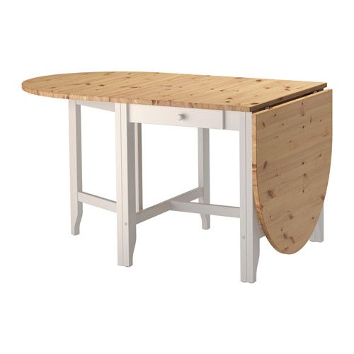 GAMLEBY Gateleg Table, Light Antique Stain, Gray