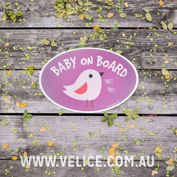 Bébé à bord oiseau autocollant bébé à bord