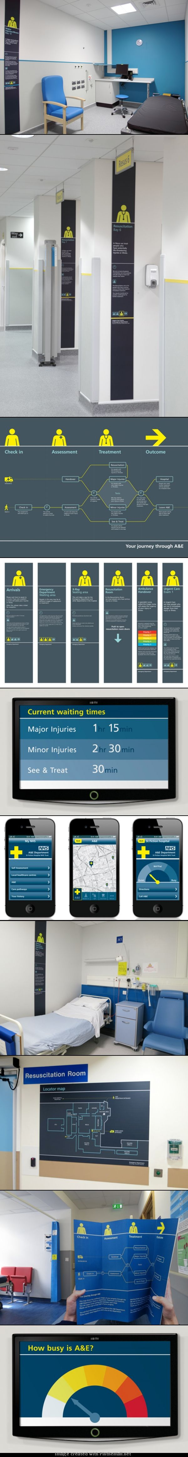 """Signage system designed for hospitals  """"reduces violence by 50 percent"""""""