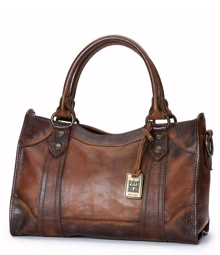 Dark Brown:Frye Melissa Washed Leather Satchel