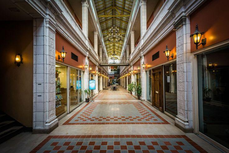 Corridor in the Arcade Mall, in Columbia, South Carolina.