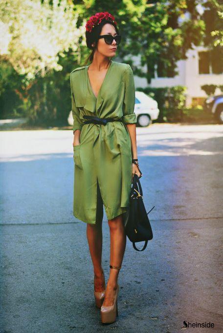 "the—one: ""flower crown & platforms"" www.fashionclue.net | Fashion Tumblr, Street Wear & Outfits"