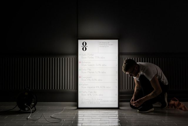 Lundgren+Lindqvist: Lightbox for OO Brewing at Gothenburg Beer and Whiskey Fair 2016