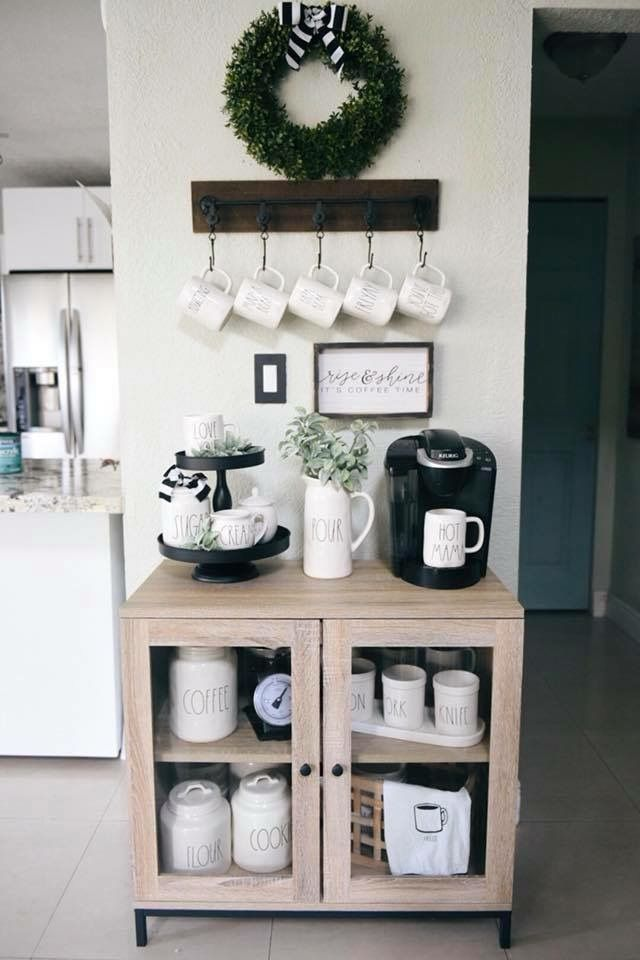 Pin By Tissa Reyes On Rae Dunn Coffee Bar Home Home Decor Home Coffee Stations