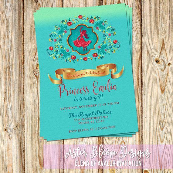 Princess Elena of Avalor Birthday Invitation - DIY