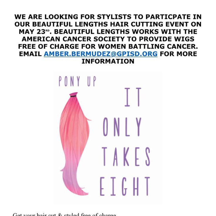 Help us out hairstylist contact AmberBermudez@gpisd.org if your interested