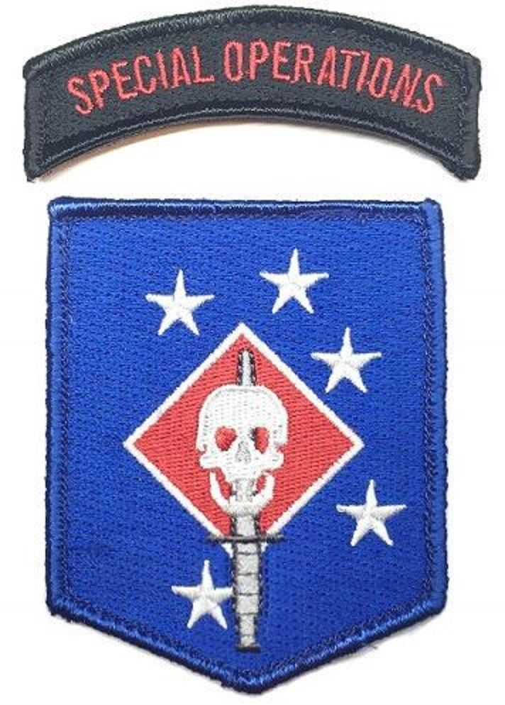 FFI - MARINE RAIDERS Sword and Special Operations Patch Set Blue Type ( MRS ) ( MARSOC ) ( Free Shipping )