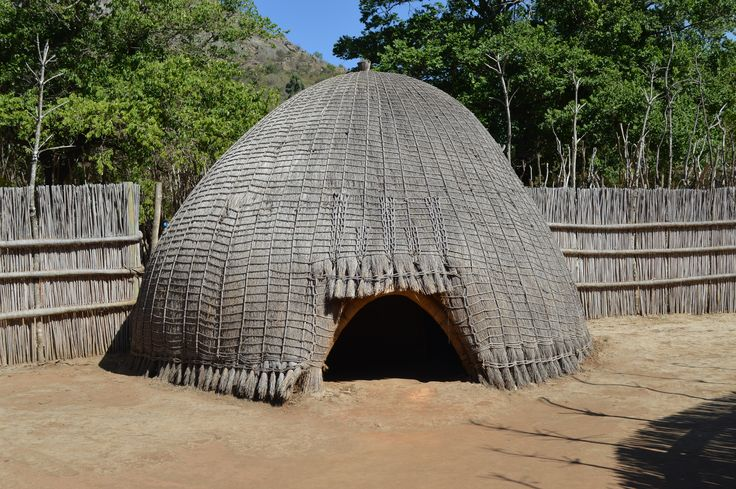 Traditional Swaziland beehive hut located at the cultural