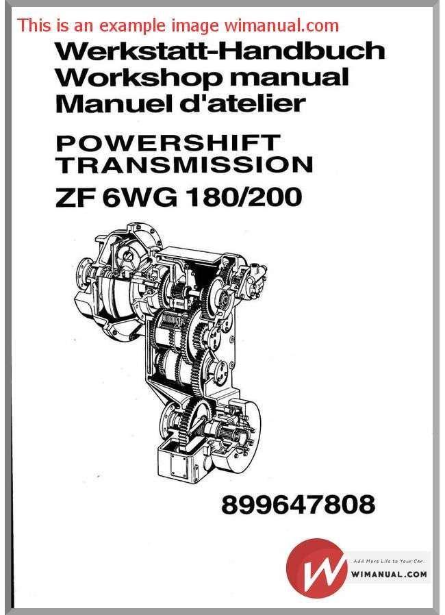 Zf 6Wg180 200 Repair pdf download. This manual has