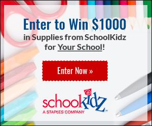 Enter to win $1000 in supplies for your school from SchoolKidz!