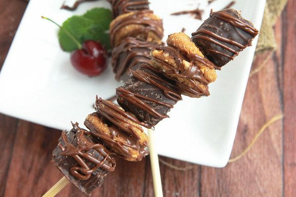 Peanut Butter Brownie Dessert Kebabs | 31 Foods On A Stick That Are Borderline Genius