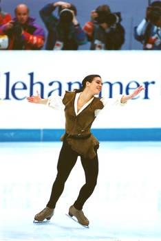 Katarina Witt, Natural-hued Figure Skating / Ice Skating dress inspiration for Sk8 Gr8 Designs.