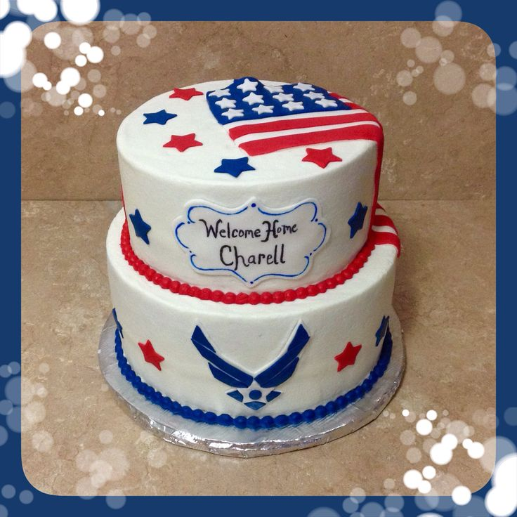 Air force welcome home cake my cakes b b 39 s creative for Welcome home cake decorations
