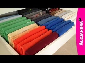 Marie Kondo's Trick For Folding T-Shirts - YouTube