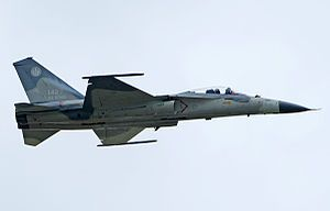 The AIDC F-CK-1 Ching-kuo (經國號戰機), commonly known as the Indigenous Defense Fighter (IDF), is a Taiwanese air superiority jet fighter with multirole capability named after Chiang Ching-kuo, the late President of the Republic of China. The aircraft made its first flight in 1989. It entered active service with the Republic of China Air Force in 1994, and all 130 production aircraft had been manufactured by 1999.