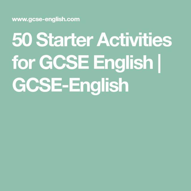 50 Starter Activities for GCSE English | GCSE-English