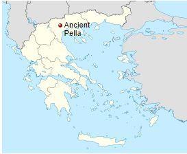 Ancient Pella Αρχαία Πέλλα-Ancient Pella is located in Macedonia northern Greece