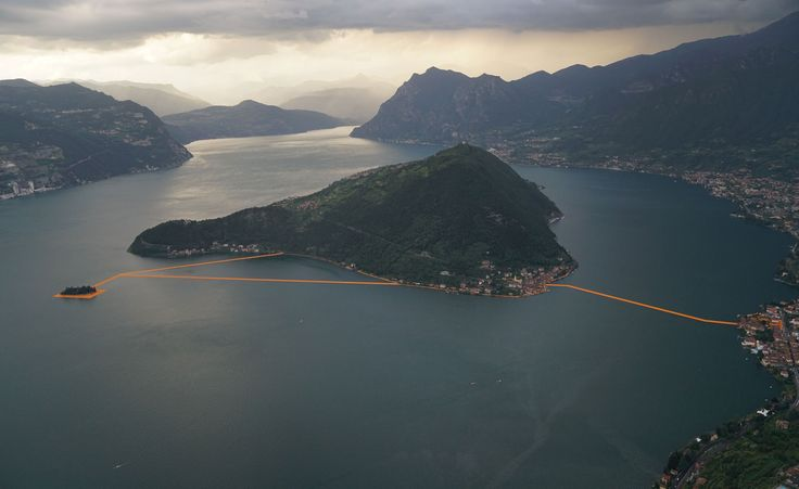 Christo and Jeanne-Claude's The Floating Piers installation has taken residence on the picturesque Lake Iseo in Northern Italy