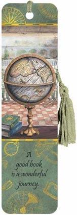 Antique Globe - Tasseled Bookmark Boeken en bibliotheken associeer ik met oude globes...