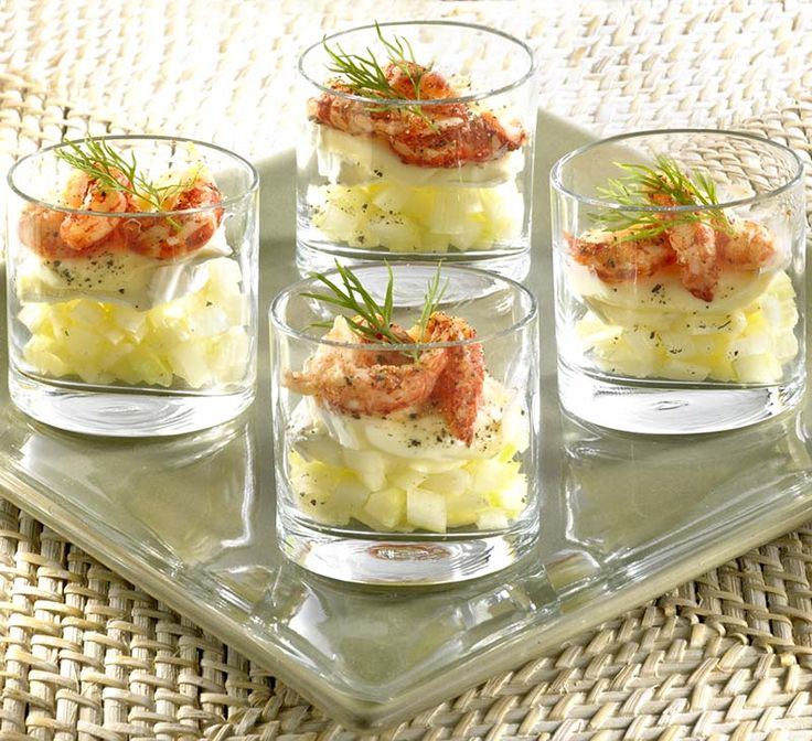 Glaasje van rivierkreeftjes en kaas - Colruyt Culinair !