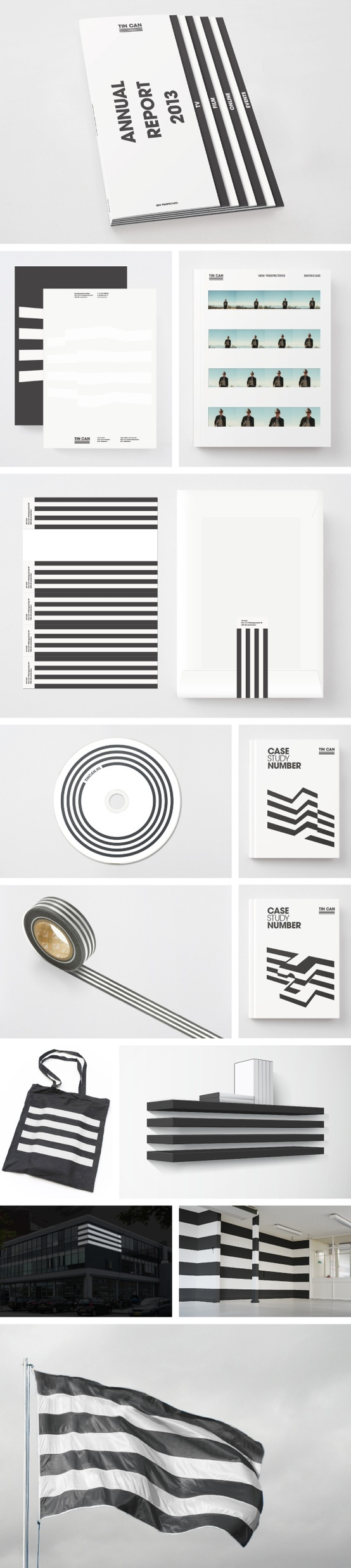 TIN CAN - visual identity by Leon Dijkstra COOEE, via Behance