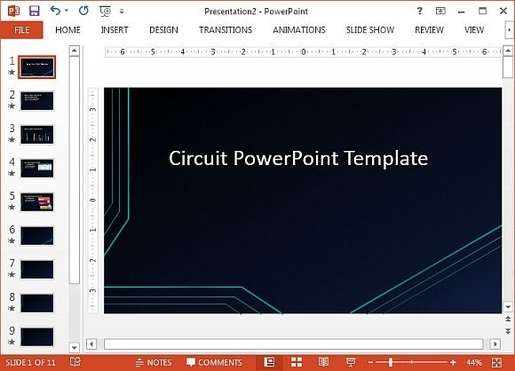 Microsoft powerpoint templates 50 pinterest futuristic circuit template for powerpoint yelopaper Gallery