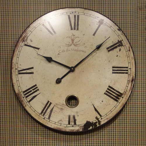 French cream shabby chic wall clock beau decor gifts - Wall picture clock decoration ...