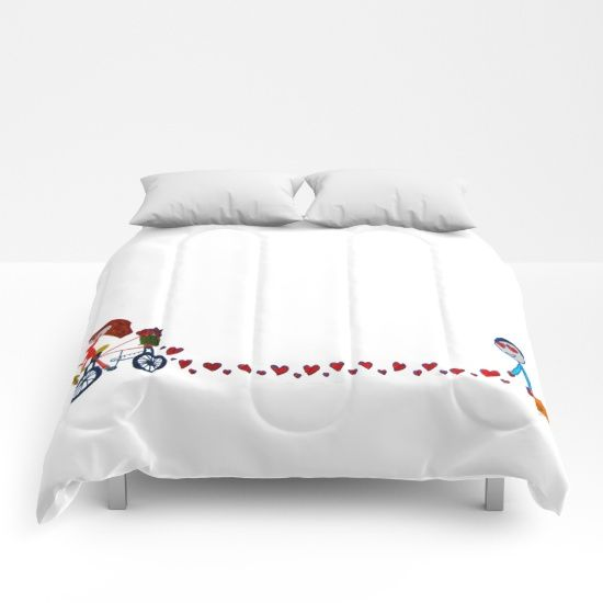 20% OFF+FREE SHIPPING ON BLANKETS COMFORTERS DUVETS ENDS TONIGHT #society6 #valentine #fun #kids #ittakestwo #sales https://society6.com/product/im-in-love-be-my-valentine-kids-painting_comforter