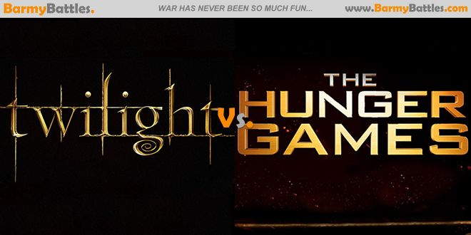 Twilight Vs Hunger Games-It's tempting to throw The Hunger Games and Twilight series into the same category. #Twilight #HungerGames VOTE FOR YOUR FAVORITE!!! http://www.barmybattles.com/2014/01/24/twilight-vs-hunger-games/