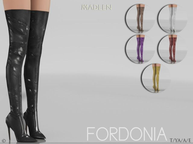 Sims 4 CC's - The Best: Madlen Fordonia Boots