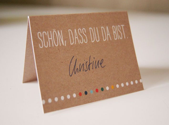 Hochzeitsdeko - Tischkarte - ein Designerstück von InSachenPapier bei DaWanda