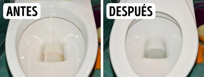 BAÑO - W.C.: Para limpiar un sanitario puedes usar el vinagre puro. Además, desinfecta a la perfección.