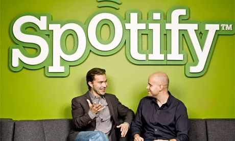 April 11, 2012    Spotify launches Play Button for websites to stream music    Tumblr support for bloggers alongside big media websites, but no brands allowed  http://www.guardian.co.uk/technology/2012/apr/11/spotify-play-button?newsfeed=true
