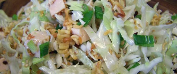 Oriental Chicken Salad With Crunchy Ramen Noodles Recipe - Chinese.Genius Kitchen